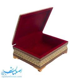 جعبه خاتم کاری قرآن و مفاتیح ابعاد 25×35 سانتیمتر