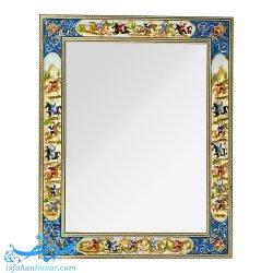 آینه خاتم کاری نقاشی شکار 40×50 سانتیمتری