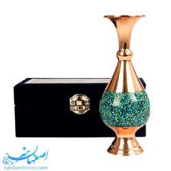 گلدان فیروزه کوبی - هدیه صنایع دستی 24