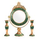 آینه و شمعدان فیروزه کوبی شبکه بری 50 سانتیمتری