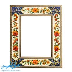 آینه 28×34 سانتیمتری با قاب خاتم نقاشی گل و مرغ