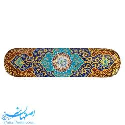 قلمدان چوبی خاتم کاری با نقاشی تذهیب