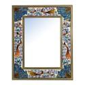 قاب آیینه نقاشی گل و مرغ ابعاد 34×28 سانتیمتر