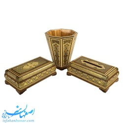 مجموعه ظروف چوبی پذیرایی صنایع دستی