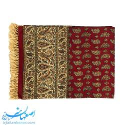رومیزی قلمکار صادراتی زمینه قرمز ابعاد 120×120 سانتیمتر