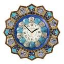 ساعت بزرگ مینا با قاب خاتم نقاشی 48 سانتیمتری