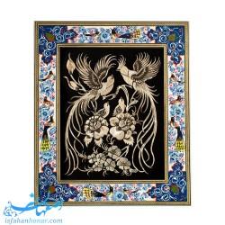 تابلوی قلمزنی با قاب نقاشی 40×34 سانتیمتری