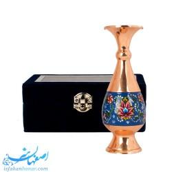 گلدان کوچک کادویی مس و پرداز با جعبه مخمل - صنایع دستی 50