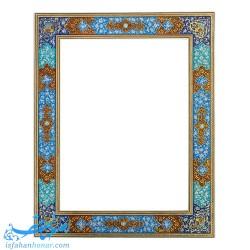 آینه دیواری با قاب نقاشی تذهیب ابعاد 40×50 سانتیمتر