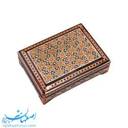 جعبه جاکارتی خاتم کاری ابعاد 11×8 سانتیمتر