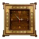 ساعت دیواری چوبی خاتم کاری 40 سانتیمتری