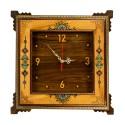 ساعت دیواری چوبی نقاشی 40 سانتیمتری