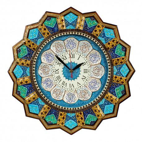 ساعت خاتم کاری با نقاشی تذهیب